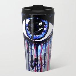 Blue eye splashing Travel Mug