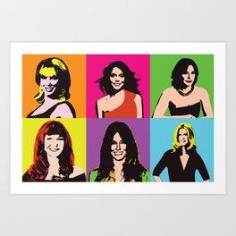 RHONY (Classic) Pop art Art Print