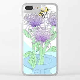 Crysanthemums Clear iPhone Case
