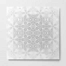 Gray Flowers/ Grey Flowers Metal Print