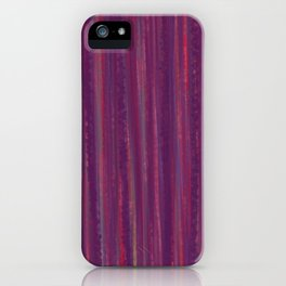 Stripes  - purple and red iPhone Case