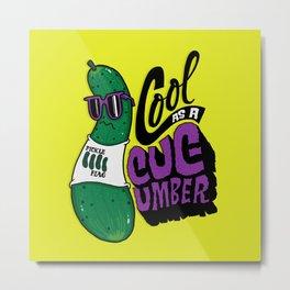 Cool as a Cucumber Metal Print