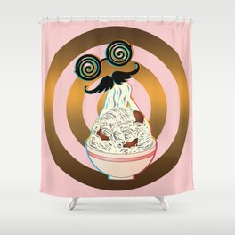 Mad ramen eater Shower Curtain