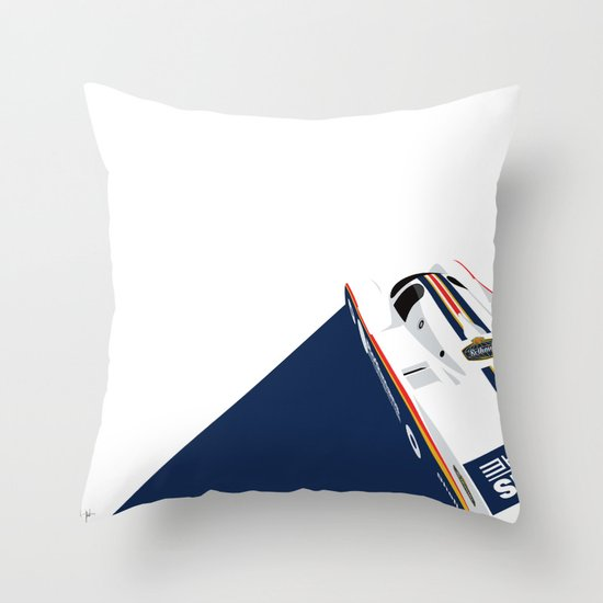 Porsche 962C, 1985 Throw Pillow