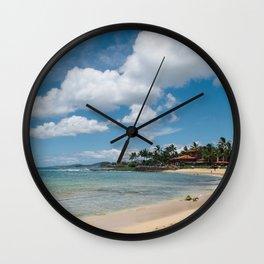 Poipu beach Wall Clock