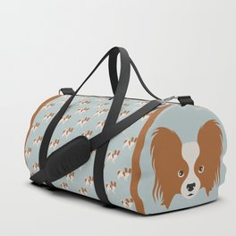 Papillon Dog Duffle Bag