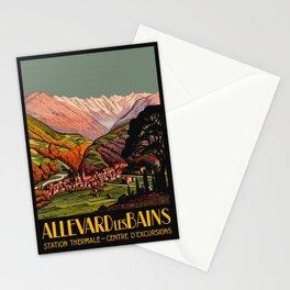 Allevard France - Vintage Travel Poster Stationery Cards