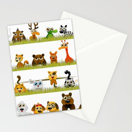Adorable Zoo animals Stationery Cards
