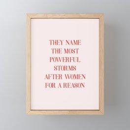 Most powerful storms Framed Mini Art Print