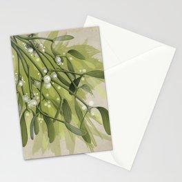Vibrant Christmas Mistletoe Stationery Cards