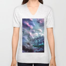 Water Temple in the Sky Unisex V-Neck