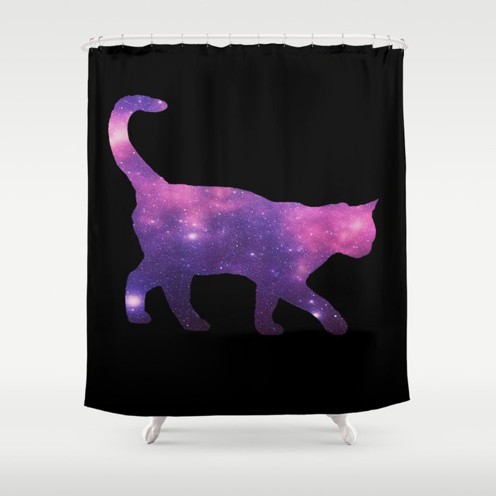 SPACE CAT Shower Curtain By Caiotrindade