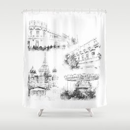 Moscow ,Kremlin Shower Curtain