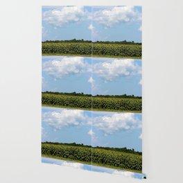 Field of Sunflowers Vertical Wallpaper