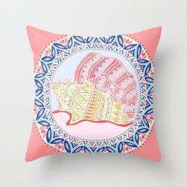 Bermuda Conch Throw Pillow