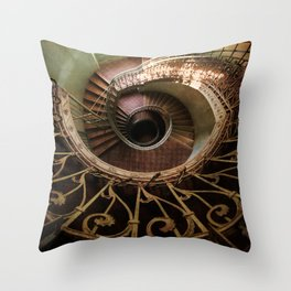 Spiral staircaise with a window Throw Pillow
