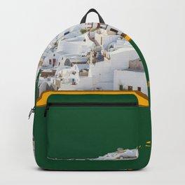 Santorini, Green-White Backpack