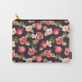 Pomegranate patterns - floral roses fruit nature elegant pattern Carry-All Pouch
