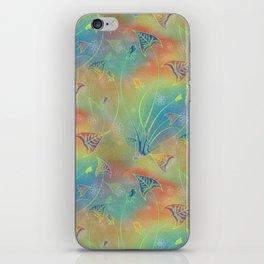 Rainbow Sparkles Leaves Flowers iPhone Skin
