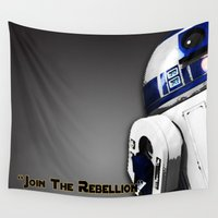r2d2 Wall Tapestries featuring R2D2 by KL Design Solutions