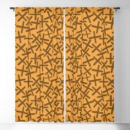 Biscotti & Peanut Colors - X-Plosion Decorative Pattern Blackout Curtain