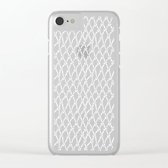 Net Black Clear iPhone Case