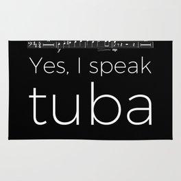 Tuba rests (black) Rug