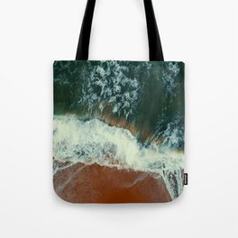 aerial view of seashore at daytime Tote Bag