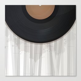 Vinyl reccord design Canvas Print