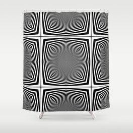 Black an White Hypnosis Shower Curtain