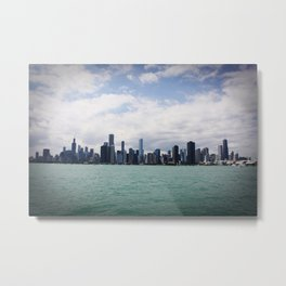 Chicago Skyline Day Color Photo Metal Print