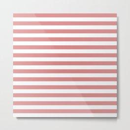 Rose Gold Stripes Metal Print