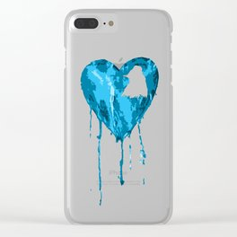 Co/d Heart Clear iPhone Case
