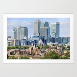 Canary Wharf is a commercial estate in London Art Print