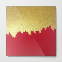 Dipped in Gold Metal Print