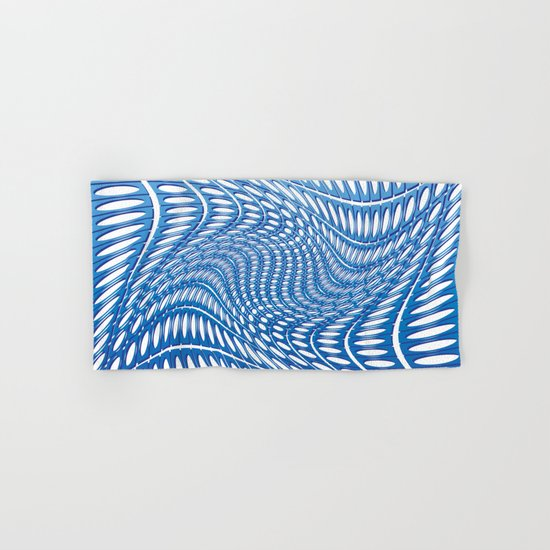 Optical Illusion in blue Hand & Bath Towel
