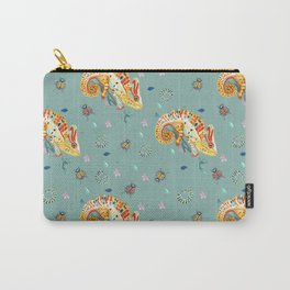 Chameleon pattern mint Carry-All Pouch