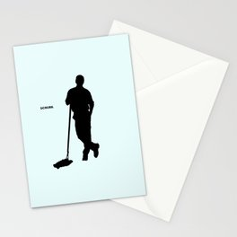 Janitor Scrubs Stationery Cards