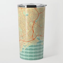 Bridgeport Map Retro Travel Mug