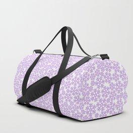 Purple snow storm / Delicate snow flake pattern Duffle Bag