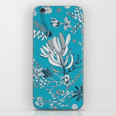 Cool Blue Cradle Flora iPhone & iPod Skin