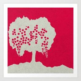 Fruit Tree Series, Red III Art Print