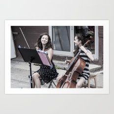 Street String Players Art Print