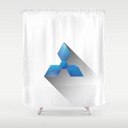 Minimal Neptune Shower Curtain