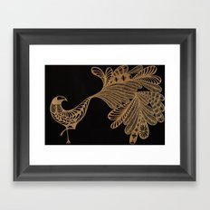 Golden Bird #4 Framed Art Print
