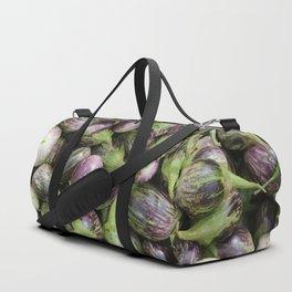 Thai eggplant vegetables Background Duffle Bag