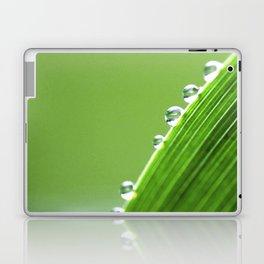 On The Edge Of Green - Water Drops Macro Laptop & iPad Skin