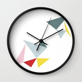 Triangles in the Sky Wall Clock