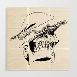 Skull (Liquify) Wood Wall Art