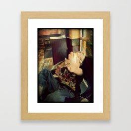 G Man and Ice Cream Framed Art Print